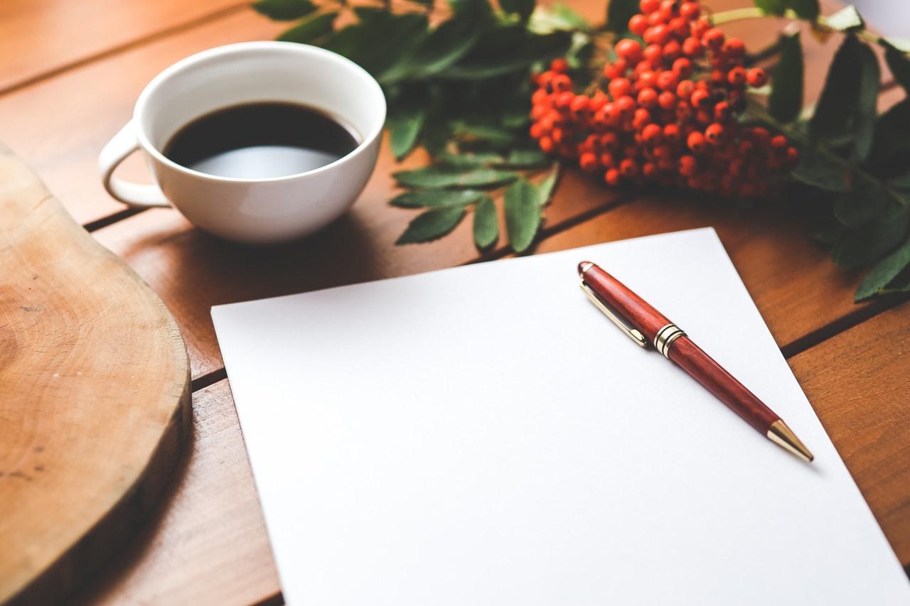 blogging work space